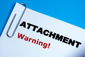 Attachment-warning